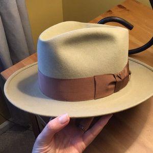 Men's vintage 3x beaver fedora hat